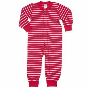 Polarn O. Pyret Baby Stripe Sleepsuit Bodysuit Trouser Top Leggings Red/White