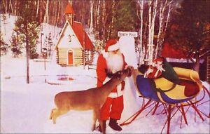 Roadside Attraction: Santa's Workshop, Santa Claus, Wilmington, NY. Pre-1963.