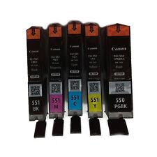 5 CARTUCCE ORIGINALE CANON PGI550 CLI551 PER PIXMA MG5550 MG-5550 IX6850 MX925