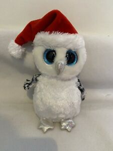 TY Beanie Boo 6 inch OWL - TINSEL 2018 Christmas Hat - Claire's Exclusive