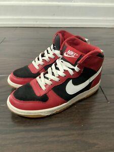Nike Dunk Swoosh Big Nike High Size 4.5 Red/White/Black Gum