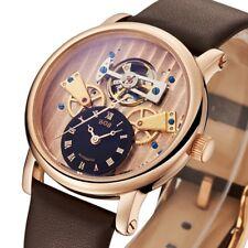 Business Automatic Mechanical Men Watch Leather Diver Tourbillon Sapphire Glass