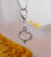 Charms Anhänger Herz Metall f. Schlüsselanhänger Taschenanhänger Armband