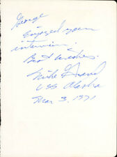 MIKE GRAVEL - AUTOGRAPH NOTE SIGNED 03/03/1971