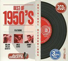 BEST OF 1950's - 3 CD BOX SET MILLION DOLLAR QUARTET * MILES DAVIS & JOHNNY CASH