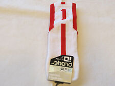 Player ID by TCK PCN LG # 1 TWI 1 sock white red vollyball basketball soccer