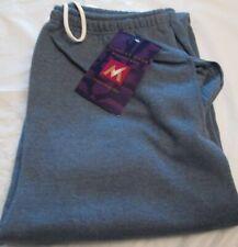 Women Sweatpants Members Mark Heather Blue Pocket Elastic Draw String 50/50