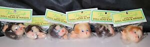 Lot of 6 Vintage Fibre Craft Doll Head And Short Hair