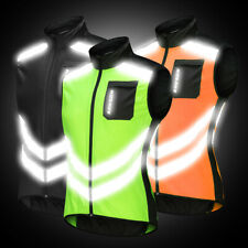 Men's Reflective Cycling Vest Bike Bicycle Waistcoat Windproof Breathable Jacket