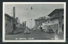 CA El Centro RPPC 50's STREET SCENE Cars STORES Hartfields BANK of AMERICA B-162