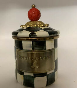 """MacKenzie-Childs Courtly Check Canister - Mini **Chipped LId***5"""""""