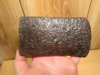 Vintage axe head hand forged Nova Scotia metal detecting find from old celler