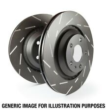 EBC for 05-07 Porsche Cayenne 4.5 (380mm Rotors) USR Slotted Rear Rotors - ebcUS