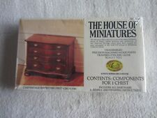 X-Acto:  The House of Miniatures:  4 Drawer Chippendale Serpentine Chest NIP