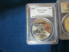 1988 Jamaica $10 Population of 1 PCGS Graded MS69 Year of the Worker