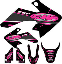 04-12 CRF50 Pink FMF Graphic Kit Shroud Plastic Decals CRF 50 decal MX Sticker