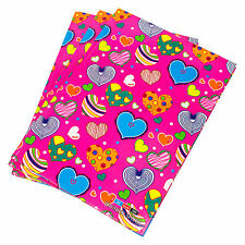 3 x Pink Hearts A4 Paper Notebooks Hardback 160 Page Lined Writing Books Pads