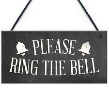PLEASE RING THE BELL House Door Hanging Plaque Garden Home Decor Sign Notice