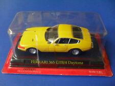 voiture miniature métal collection 1/43, ixo altaya, ferrari 365 GTB 4 jaune