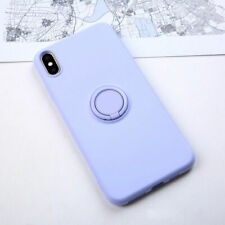 Soft Liquid Silicone Case Cover + Ring Kickstand Holder For iPhone 11 6 7 8 X XS