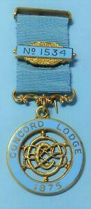 Masonic Centenary Jewel Concord Lodge No 1534