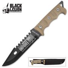 "Black Legion ""Proud American Infidel"" Fixed Blade Knife with Sheath BV477 NEW"