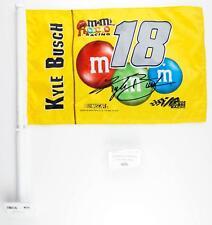Kyle Busch #18 M&M's Racing NASCAR Car Truck Auto Vehicle Window or Wall Flag