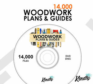 WOODWORK PLANS & GUIDES DVD - OVER 14,000 FILES  - SHEDS, PLANTERS - DIY + MORE