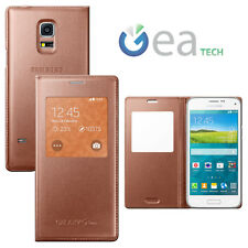 Flip S View Cover Original Case pr Samsung Galaxy S5 Mini Window Gold Gold