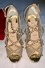 CHRISTIAN LOUBOUTIN Alarc Spiked Strappy Sandal IT 37