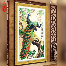 5d DIY Diamond Painting Kits Cross Stich Embroidery Peacock Wealth Good Fortune