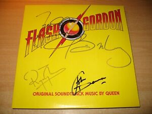 QUEEN-Flash Gordon Japan-Superb' soundtrack signed by all band members NM.