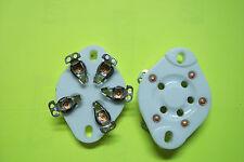 Vacuum Tube Sockets   5  Pin Ceramic /New(4 pc)