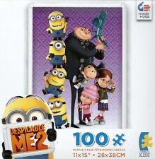 NEW ~ DESPICABLE ME 2 ~ 100 PIECE PUZZLE ~ GRU, GIRLS, MINIONS