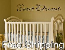 SWEET DREAMS vinyl wall sticker decal baby nursery children decor quote FREESHIP