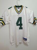 Brett Favre #4 Reebok NFL Equipment Jersey 46in Packers White Rn69421 Medium