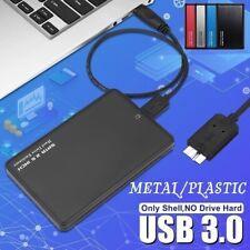 "2.5"" SATA USB 3.0 BLK Hard Drive Disk HDD SSD Enclosure External Laptop Case US"