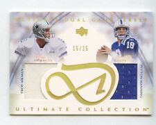 2003 Ultimate Collection Peyton Manning Troy Aikman Gold Dual Jersey /25