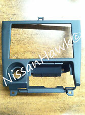 NEW OEM NISSAN 240SX 1995-1998 BLACK/CHARCOAL RADIO BEZEL TRIM