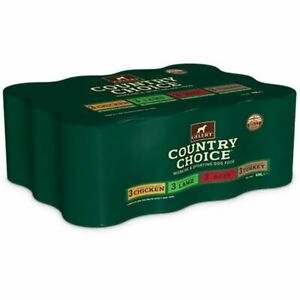 New Gelert Country Choice Working Dog Variety Dog Tins 12 Pack X 400G