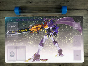 Digimon mecha monster Trading Card Game Playmat TCG Mat Free High Quality Tube