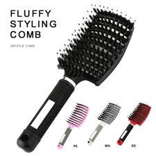 Salon Professional Bristle Nylon Hairbrush Scalp Massage Comb Wet Hair Brush