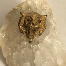 Vintage Stickpin Conversion Pendant of Tiger Face or Head