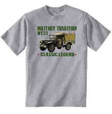 VINTAGE INSPIRED AMERICAN CAR DODGE WC51 - NEW COTTON T-SHIRT