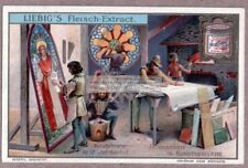 12th Century Glass Painting Studio Kiln Art Artist 1905 Trade Card