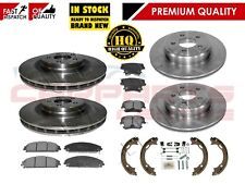 FOR CHRYSLER 300C FRONT & REAR BRAKE DISCS & PADS & HAND BRAKE SHOES & FITTINGS