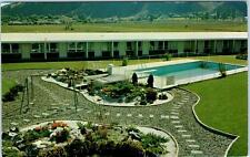 KAMLOOPS, British Columbia B.C.  Canada  DAVY CROCKET MOTEL  Roadside Postcard