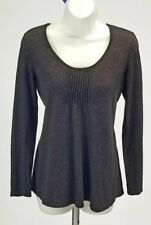EILEEN FISHER Women's Size XS Brown wool/cashmere pullover sweater knit top #123