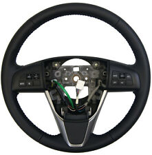 2011-2012 Mazda 6 Steering Wheel Black Leather W/Audio & CC Switch GEG432980Z01