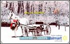 WALMART CHRISTMAS CHARIOT A RIDE IN THE PARK #VL11436 COLLECTIBLE GIFT CARD For Sale